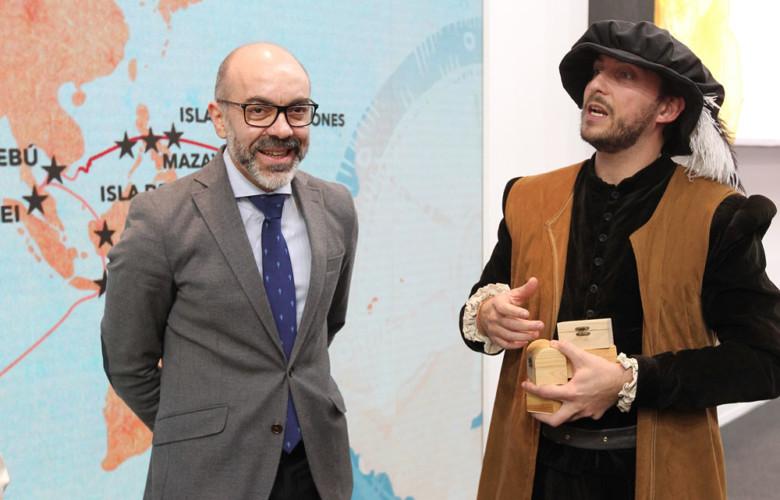 Juan Lázaro / ICAL El consejero de Cultura y Turismo, Javier Ortega, se reúne con el vicepresidente y consejero de Turismo de Andalucía, Juan Antonio Marín y con la consejera de Turismo, Comercio y Consumo del País Vasco, Sonia Pérez.