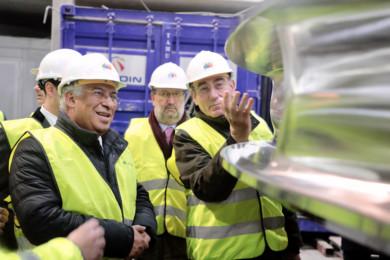 David Arranz / ICAL El presidente de la compañía, Ignacio Galán, y el primer ministro portugués, Antonio Costa, visitan las obras del complejo hidroeléctrico Tâmega que la firma eléctrica construye en el norte del país luso.