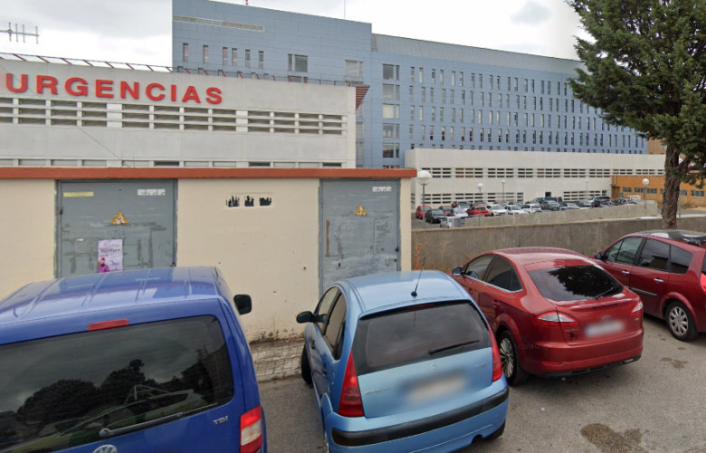 La mujer inconsciente fue trasladada al hospital de Santa Bárbara, en Soria.