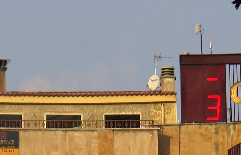 La temperatura de Salamanca a las 9.41 horas de este lunes.