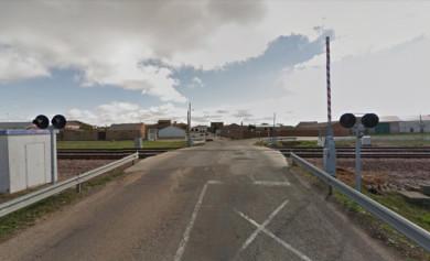 Paso a nivel de Gomecello. Foto. Google Maps.