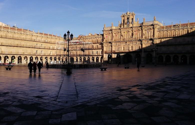 La Plaza Mayor de Salamanca en Año Nuevo.