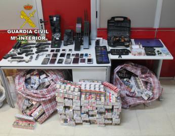La Guardia Civil detiene a siete integrantes de una organización criminal establecida en Madrid y Toledo dedicada al robo con fuerzas y tráfico de armas de fuego
