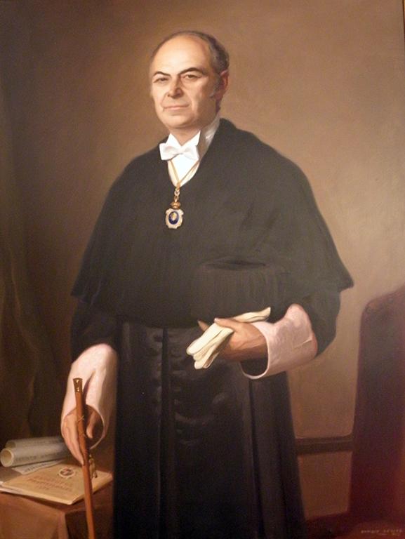 Felipe Lucena Conde (1923-1976), Rector de la Universidad de Salamanca (1968-1972) (Óleo de Enrique Segarra, 1972).