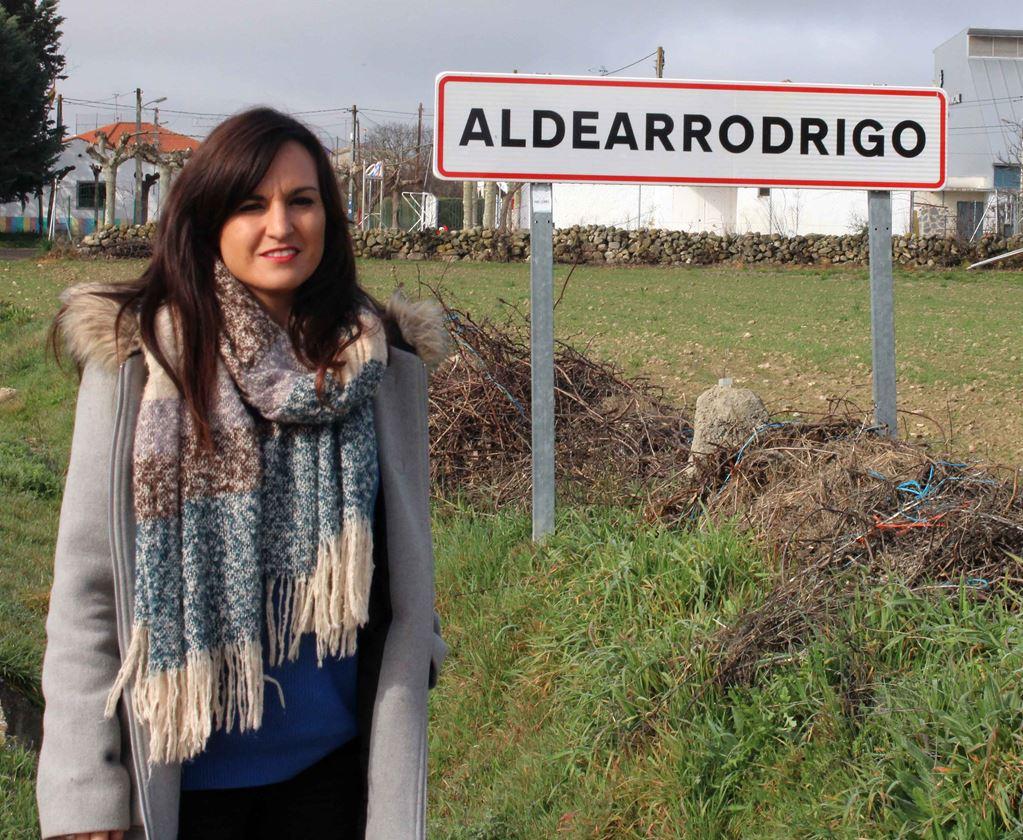 Alicia del Arco,  Community Manager de Aldearrodrigo, uno de los pueblos de la 'Salamanca vaciada'