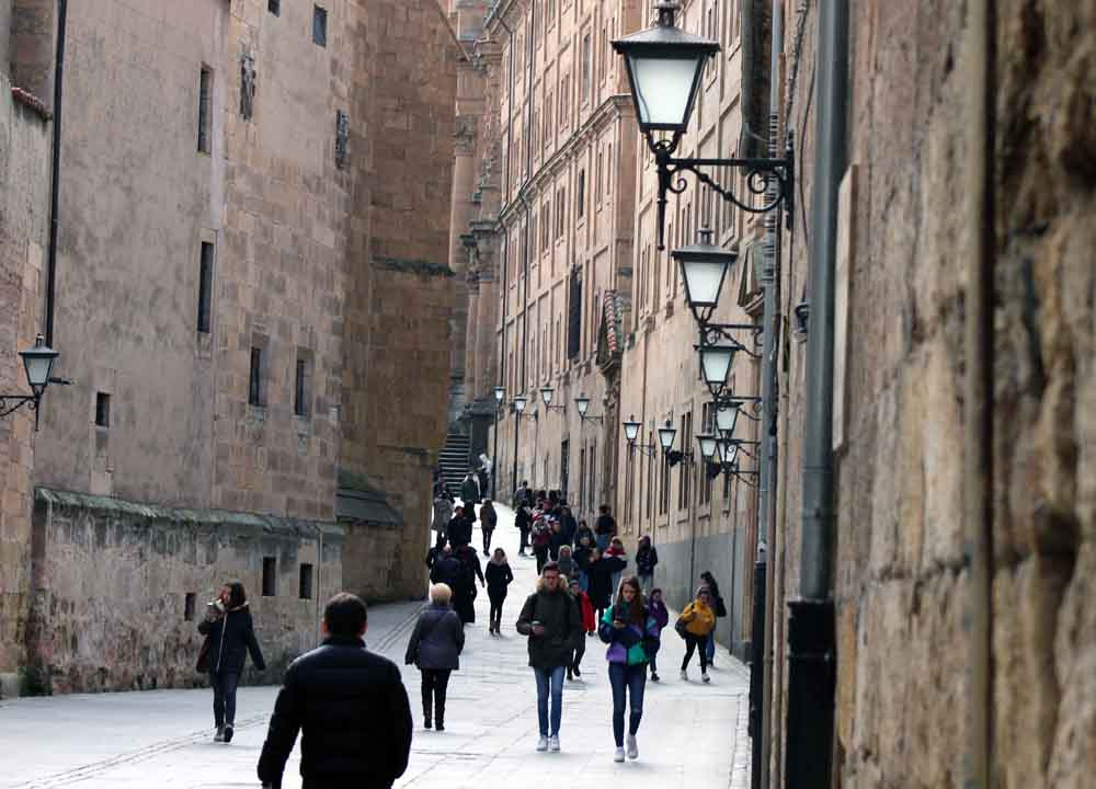 La calle Compañía, Salamanca.