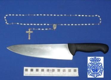 cuchillo lesiones amenazas