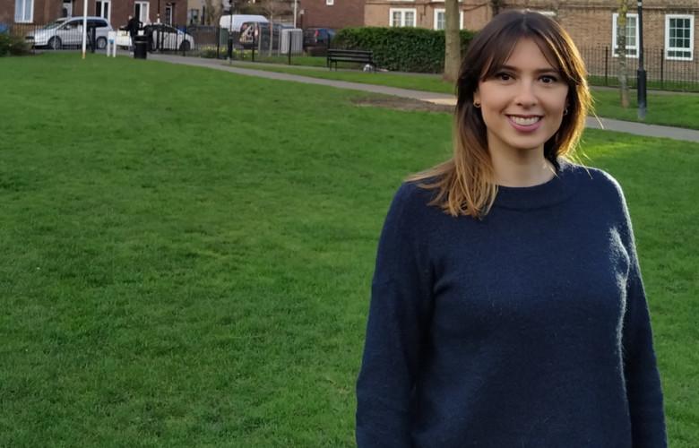 Elena García Muriel, estudiante de Psicología, en la Usal, ahora trabaja en Londres.