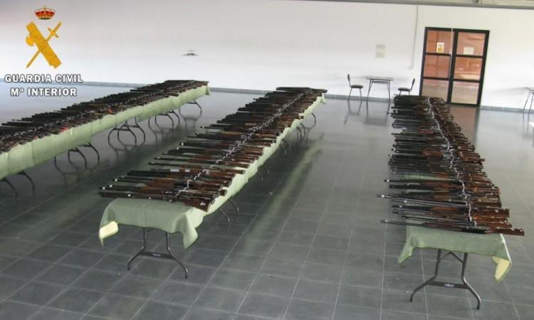 guardia civil subasta armas