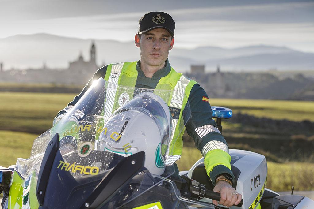 Nacho Valverde / ICAL Alejandro Zarco, Guardia Civil de Tráfico en la provincia de Segovia