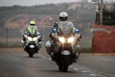 Peio García / ICAL José Antonio Álvarez Méndez y Julio García, agentes de la Guardia Civil de Tráfico destinados en Astorga