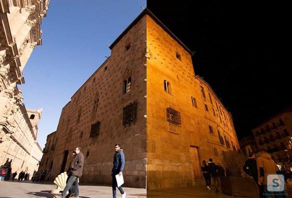 La cuenta de Instagram Salamanca Móvil ha colgado estas dos imágenes de la Casa de las Conchas.