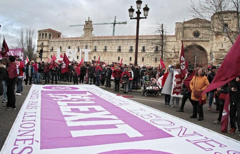 leon protesta industria lexit leonesismo