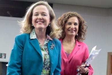 Nadia Calviño y María Jesús Montero