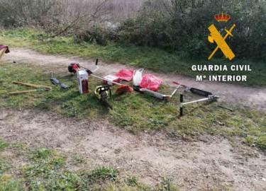 La Guardia Civil recuperó los objetos robados de una de las viviendas de la urbanización Las Dunas, en Cabrerizos.