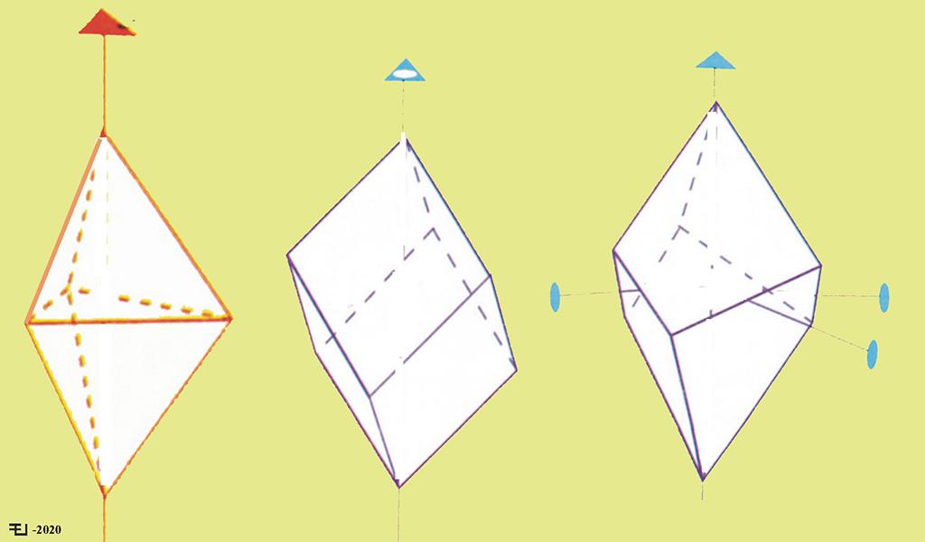 Bipirámide trigonal, romboedro y trapezoedro trigonal.