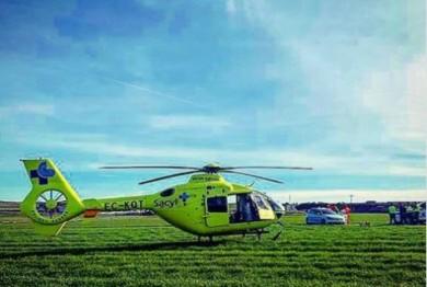 accidente trafico arapiles helicoptero sacyl