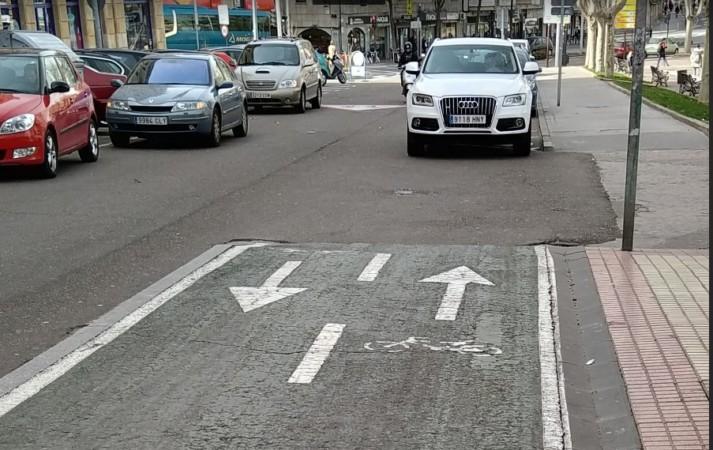 carril bici calle alamedilla