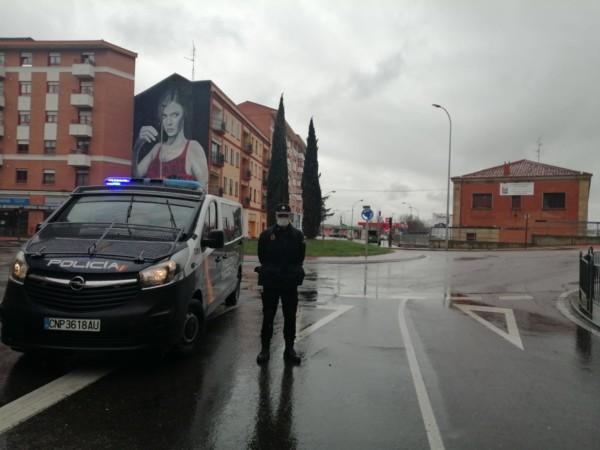 La Policía Nacional y el Ejército está realizando controles de vehículos en Salamanca y Béjar.