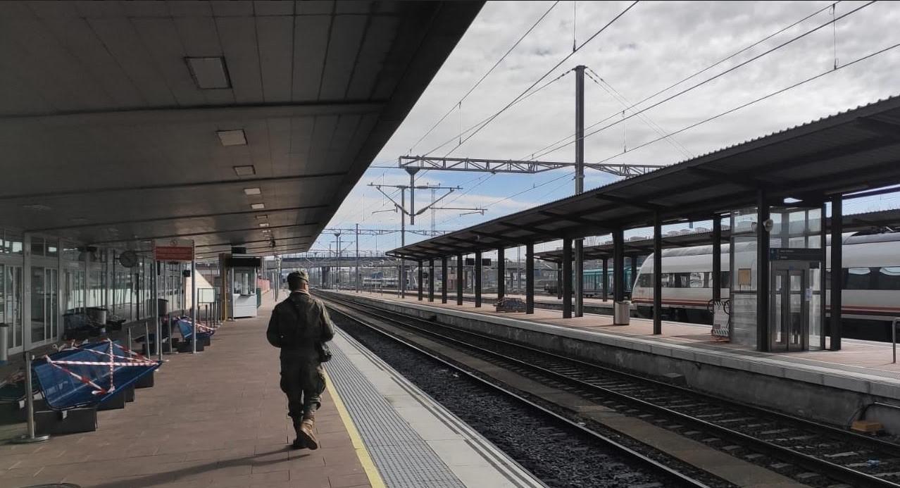 ejercito vigila estacion tren renfe