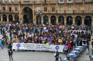 Salamanca salió a la calle en la manifestación del 8M Día de la Mujer Trabajadora.