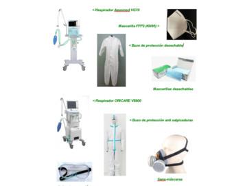 Material sanitario donado por Iberdrola por un importe de 22 millones de euros.
