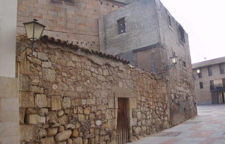 """La casa en el Patio Chico donde se oyeron los """"lamentos del fantasma""""."""
