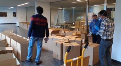 La Delegación Territorial reparte material de protección a bomberos voluntarios y profesionales, policías locales y protección civil de la provincia de Salamanca