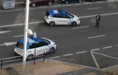 control de la policía local en Salamanca