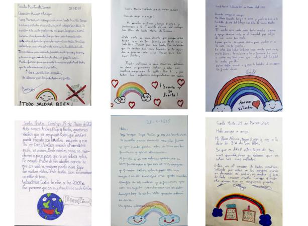 Cartas de los niños y niñas de 3º A del colegio San Blas de Santa Marta.
