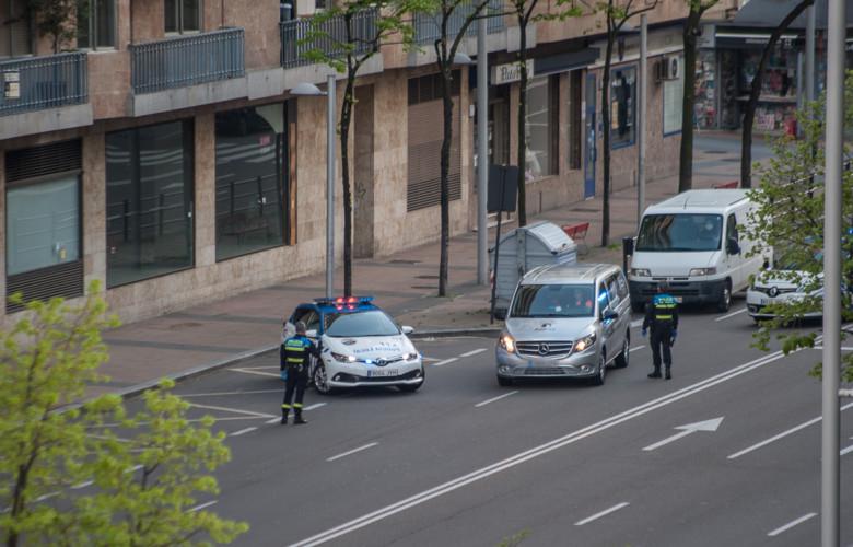 La Policía Local realizó un control alrededor de las 20.00 horas en el paseo de la Estación.
