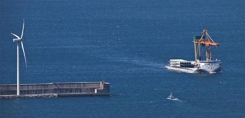Llegada palas Puylobo Puerto Bilbao -3