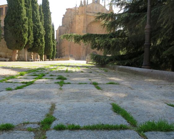 La plaza del Concilio de Trento con el convento de San Esteban al fondo.