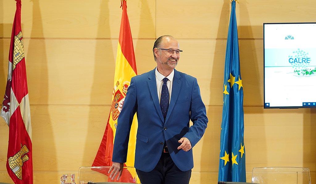 Luis Fuentes, presidente de las Cortes de Castilla y León. Foto. ICAL (2)