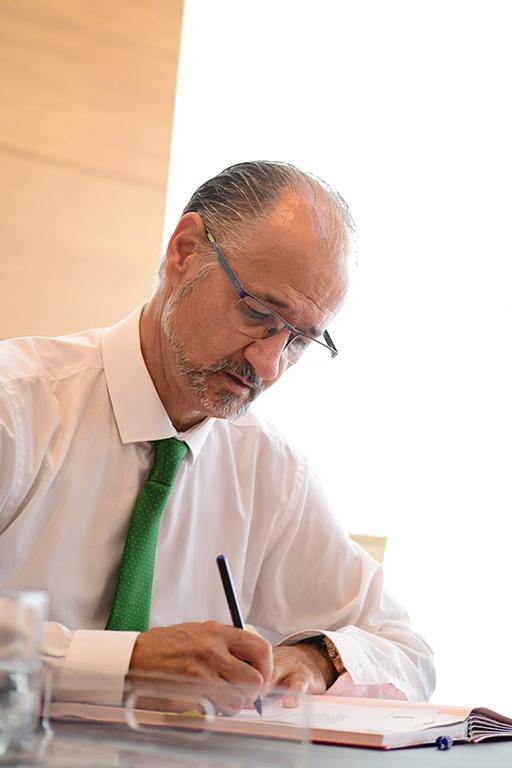 Luis Fuentes, presidente de las Cortes de Castilla y León. Foto. ICAL (3)