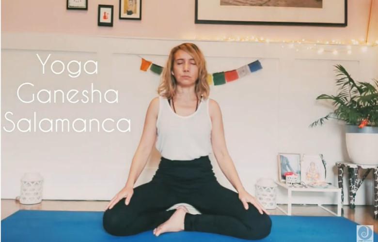 Marta Corrionero, maestra de yoga salmantina.
