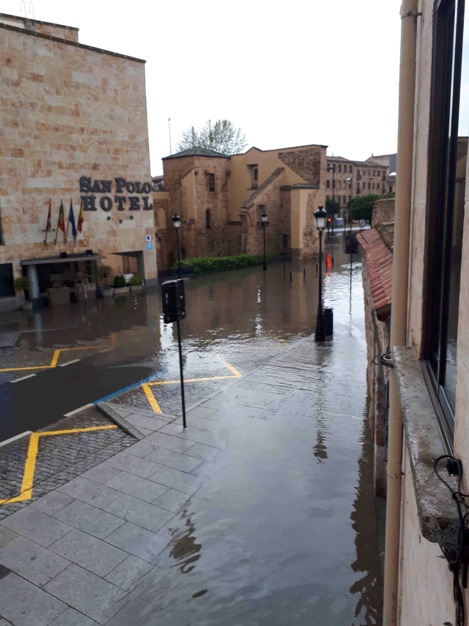 Innundación en Arroyo de Santo Domingo.