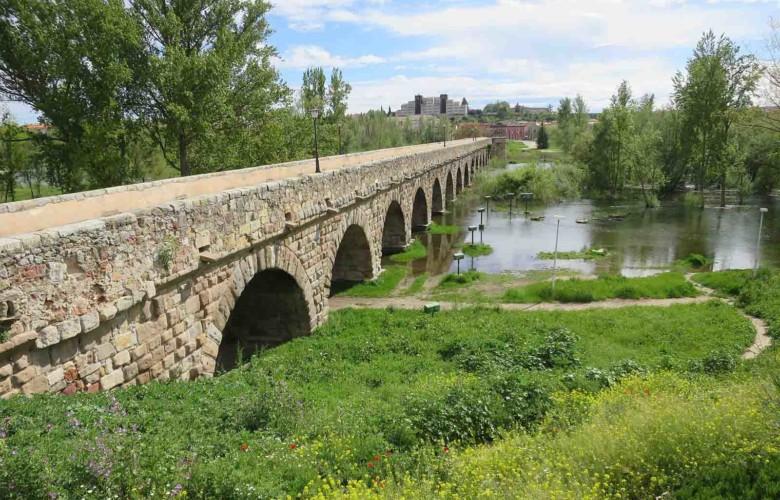 rio tormes desbordado lunes aguas coronavirus puente romano (1)