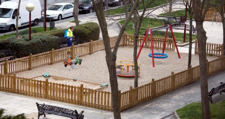 un parque sin niños