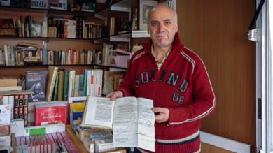 Venancio Sánchez García, propietario de Tu librería de siempre, en Mogarraz.