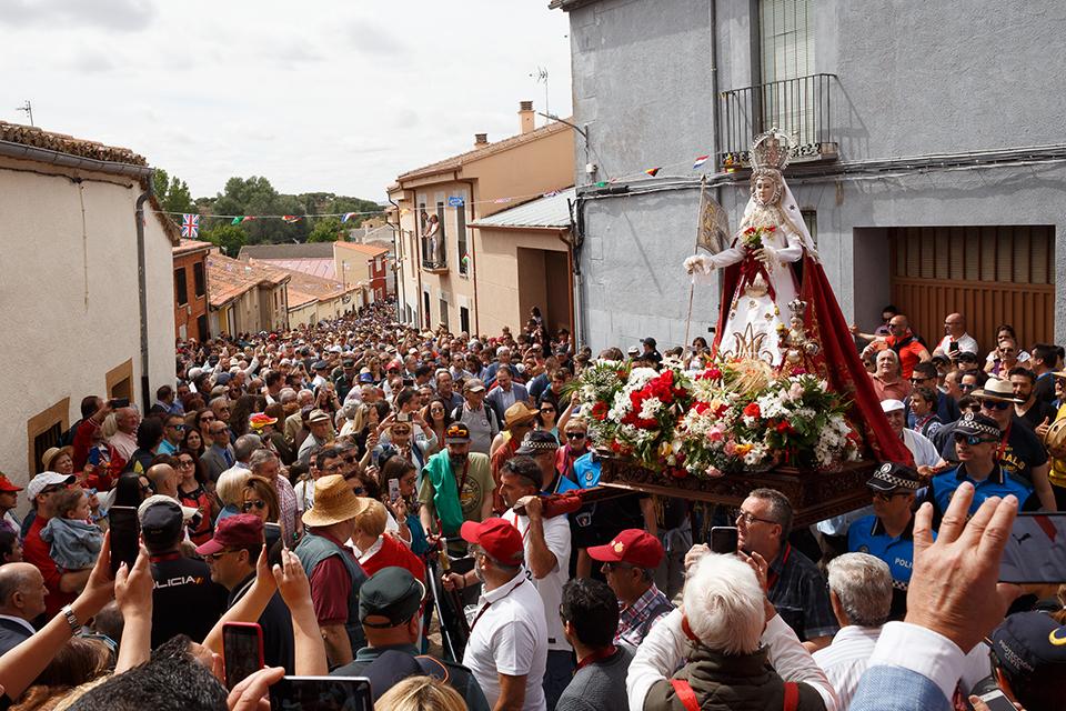 J. L. Leal / ICAL . Celebración de la 729ª peregrinación romera de la Virgen de la Concha, patrona de la capital, a la localidad zamorana de La Hiniesta