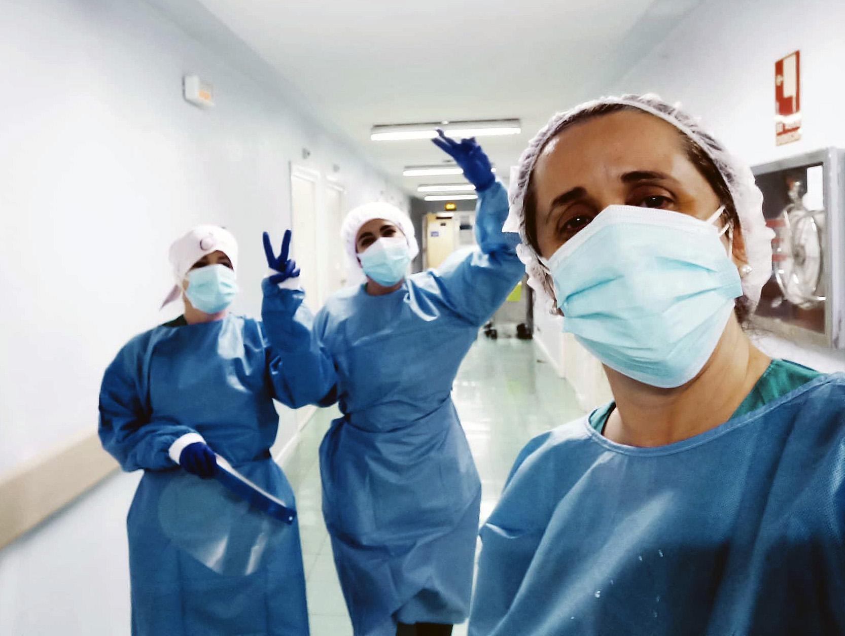 Ainhoa Rivero, enfermera del hospital de Salamanca.