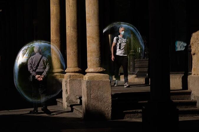 Burbujas, una serie de Enrique Carrascal.