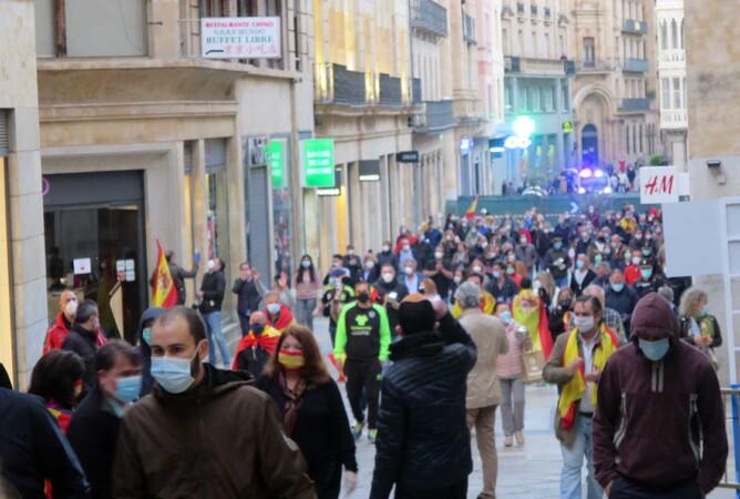 Vídeo de la manifestación contra el Gobierno en Salamanca