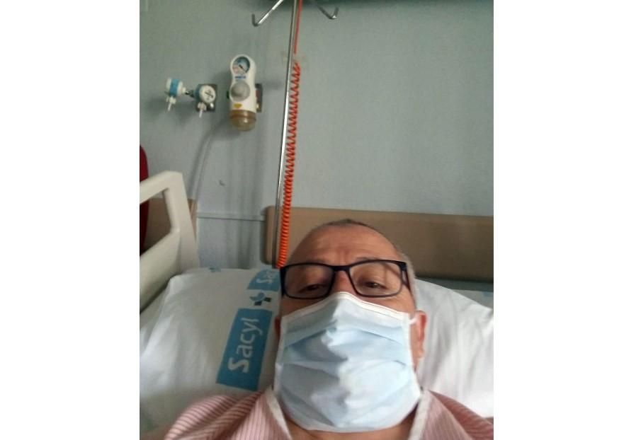 manuel hernandez en el hospital clinico coronavirus