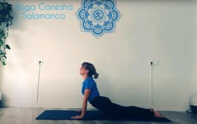 Marta Corrionero, maestra de yoga en la escuela Ganesha Salamanca.