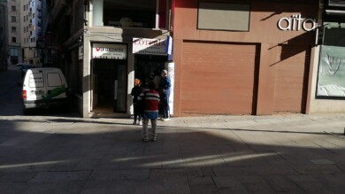 Cola en un establecimiento de lotería en Salamanca.