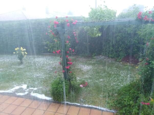 Fuerte granizada en Buenavista y tormenta en Salamanca.