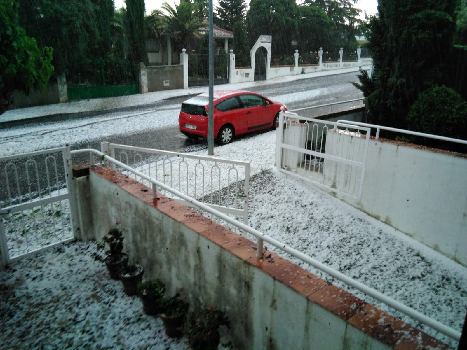 Tormenta de granizo en Cabrerizos.