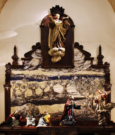 El retablo de la Oración del Huerto en el Carmen de Abajo, obra de Andrés Alén (foto H.S. Tomé)